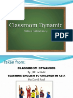 Classroom Dynamic Re We Sip