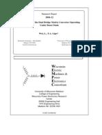 Investigation of the Dual Bridge Matrix Converter
