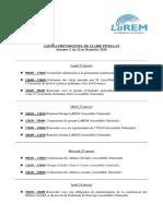 Agenda, Semaine 4