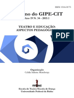Percurso Do Teatro Educação Como Area de Conhecimento