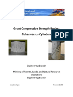 Grout Cubes Versus Cylinders Tests