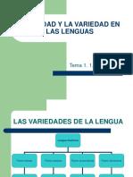 La Unidad y La Variedad en Las Lenguas