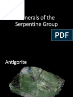 Minerals of the Serpentine Group