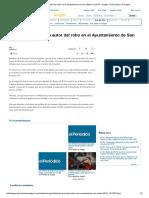 2017-06-29 El Periódico de Aragón Detenido El Presunto Autor Del Robo en El Ayuntamiento de San Mateo en 2013