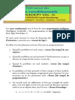 Javascript_tome_v - Tests Conditionnels