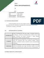 Modelo Informe Tepsi - 4 Años