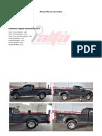 Dimensões da Carroceria Chevrolet s10 Ls Ds4 - 2015 2016