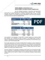 Mineramilpo Informe de Gerencia Atacocha 1t 2013