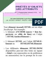 Javascript_tome_xvi - Propriétés d'Objets Et Leurs Attributs
