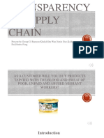 Transparency in Supply Chain