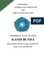 Proposal APE Dungwilut
