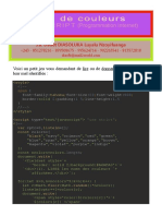 Javascript - Jeu de Couleurs