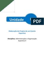 Administração e Oraganização Esportiva - Unidade 2