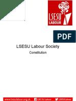 LSESU Labour Proposed Constitutional Updates