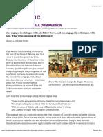 Moisés e José - Comparações