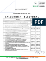 Calendrier Electoral Officiel Legislatives 2019