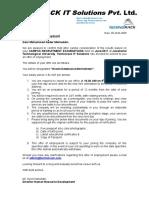 Offer Letter 1st Page