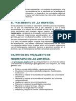 miopatia tratamiento