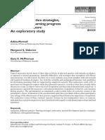 Evaluating practice strategies, behavior and learning progress in elite performers
