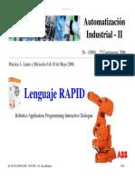 Programación robots ABB