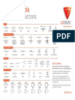 Electronic Circuit Symbols Poster