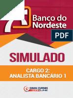 Simulado BNB - Analista Bancário