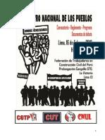 Convocatoria y otros documentos para el Segundo Encuentro Nacional de los Pueblos