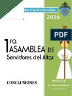 Asamblea de Servidores del Altar 2016