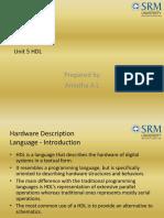 Unit 5 HDL_Amutha a L_SRM University