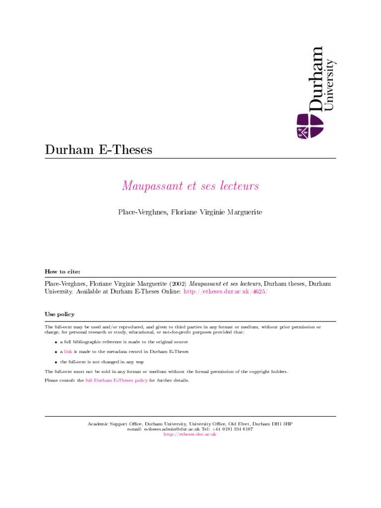 Dissertation maupassant et dumas example good cover letter teaching job
