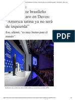Presidente Brasileno Jair Bolsonaro Davos America Latina Izquierda