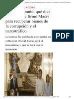 Punto Punto Dice Dnu Firmo Macri Recuperar Bienes Corrupcion