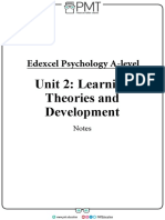 Learning Theories and Development Notes - Edexcel (IAL) Psychology a-level