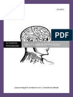83234001 A2 Edexcel Psychology Module 4 Unit 3 Clinical Psychology