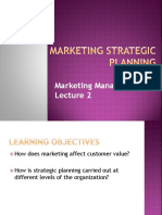 Lecture 2 - Marketing Strategy