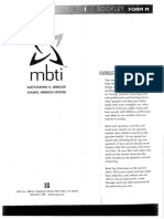 MBTI Test and Answer Sheet