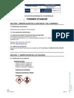 Mezcla de Hidrocarburos Thinner Standar Msds Sga