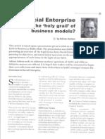 Social Enterprise - Holy Grail of Business Models - Autumn 09