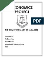 Economics Project, 4th Semester.