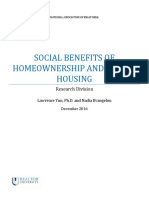 Social Benefits of Homeownership and Stable Housing 2016