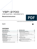 YSP-2700 Manual Spanish