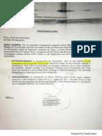 FEMA de Piura programa una nueva diligencia y reprograma la visualización de fotografías