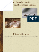Primary and Secondary Sources w Pictures
