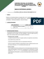 Especificaciones Alcantarilla Metalica Tmc