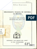 Bibliografía selecta de Historia de Bolivia