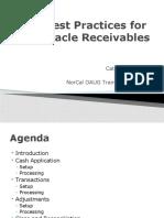 Best Practices for Oracle Receivables