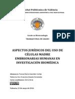 GONZÁLEZ - Aspectos Jurídicos Del Uso de Células Madre Embrionarias Humanas (HESC) en Investigaci...