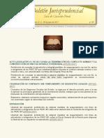 Boletín Jurisprudencial 2017-06-09