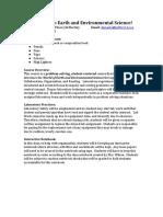 earth and environmental  syllabus 2019