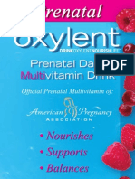 Oxylent Brochure for Prenatal Daily Multivitamin Drink